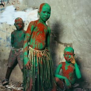 Phyllis Galembo, Three Painted Boys, Carnaval, Haiti, 2004