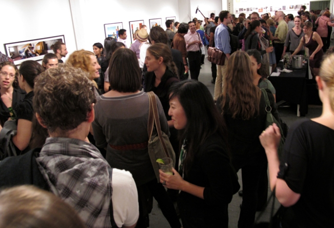 Opening reception at Aperture