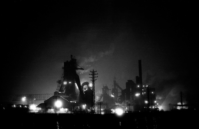 © Steve Cagan, Steel Mill, Cleveland's Flats, Industrial Hostages series, 1979