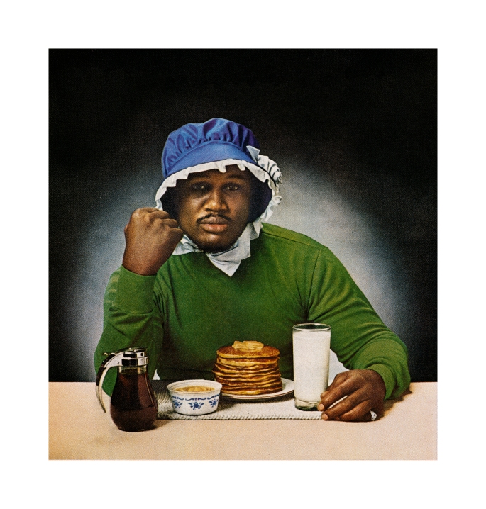 "Hank Willis Thomas, Smokin' Joe Ain't J'Mama, Unbranded series, 1978/2006. Lambda photograph, original photographer unknown, 52 x 50"""