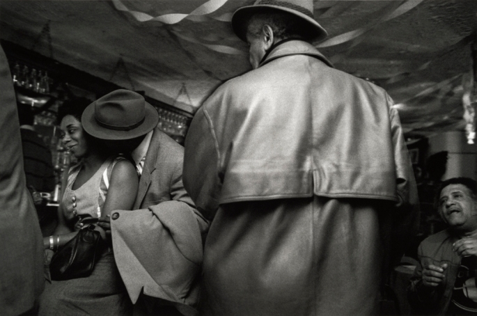 "St. Nick's Pub, Harlem, 1995 Gelatin silver print, 11 x 14"" (paper size 16 x 20"") Limited edition of 15. Price: $300 (market value of Gerald's work: $1,000+)"