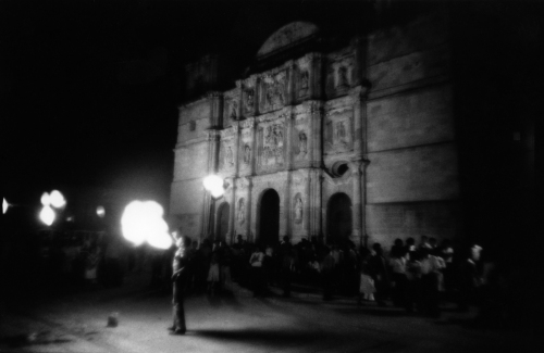 "Fire Eater, Zócolo, Oaxaca series, 1983 Gelatin silver print, 9.5 x 13"" (paper size 11 x 14'') Non–editioned. Price: $300 (market value of Frank's work: $500+)"