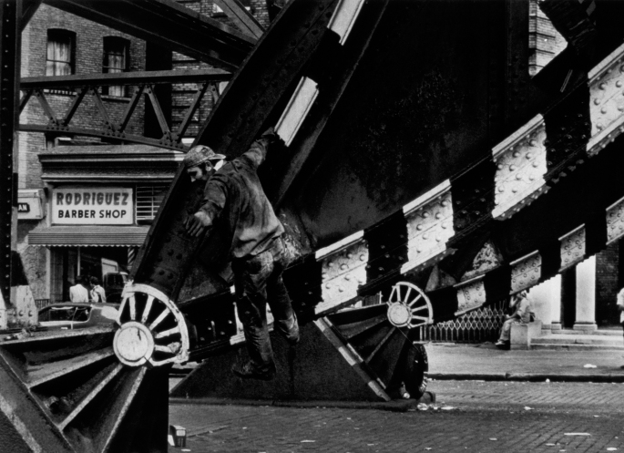 "Leaper, Subway series, 1980s Gelatin silver print, 16 x 20"" Non–editioned. Price: $300 (market value of Sophie's work: $600+)"